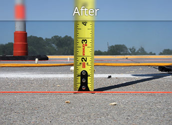 After leveling Fond Du Lac roadway with PolyLevel®
