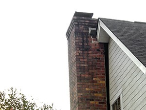 A home with a previous chimney problem.